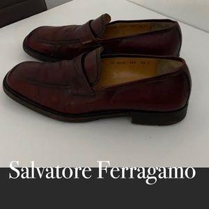 Salvatore Ferragamo vtg men's leather loafers 8.5